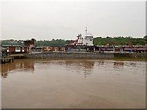 SJ3681 : Mersey Estuary, Eastham Lock to Oil Dock by David Dixon