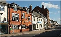 ST0207 : High Street becomes Fore Street, Cullompton by Derek Harper