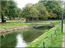 TL3706 : Footbridge over New River, Broxbourne by Robin Webster