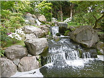 TQ2479 : Waterfall in the Kyoto Garden at Holland Park by Marathon