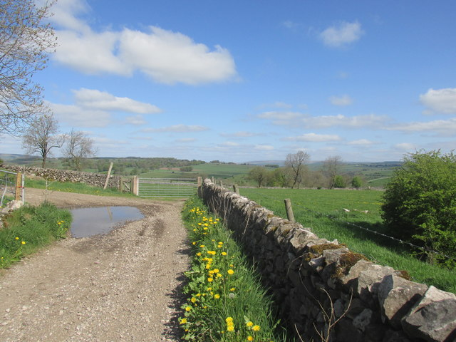 Lane from  Priestcliffe