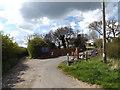 TM1150 : Chalk Hill Lane, Great Blakenham by Adrian Cable
