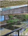 SP3779 : River Sowe under Sowe Bridge, Walsgrave, Coventry by Robin Stott
