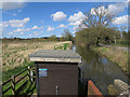 TG0218 : Gauging station, River Wensum by Hugh Venables