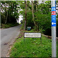 SN7909 : Heol y Gwaudd/Weavers Road name sign, Ystradgynlais by Jaggery