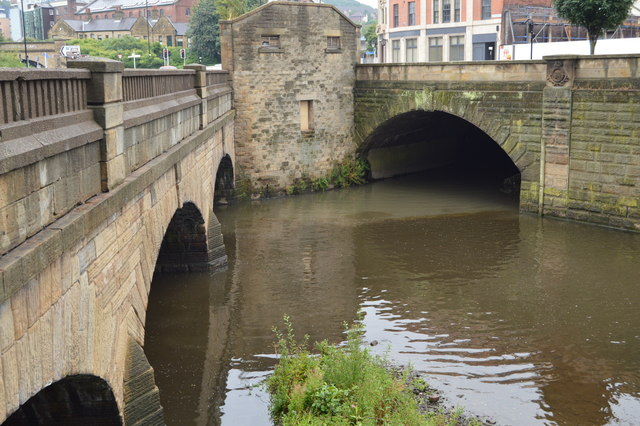 The River Sheaf joins the River Don, Blonk Bridge