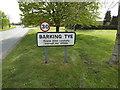TM0652 : Barking Tye Village Name sign by Geographer