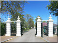 TQ3982 : Gates to East London Cemetery by Des Blenkinsopp