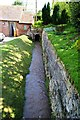 SO7263 : Shelsey Walsh watermill - Tailrace by John M
