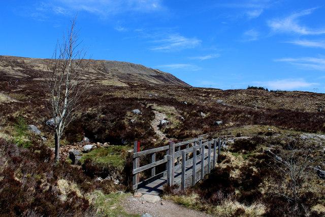 Footbridge over the Allt a' Mhain