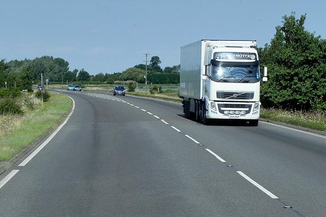 HGV Heading Towards East Anglia
