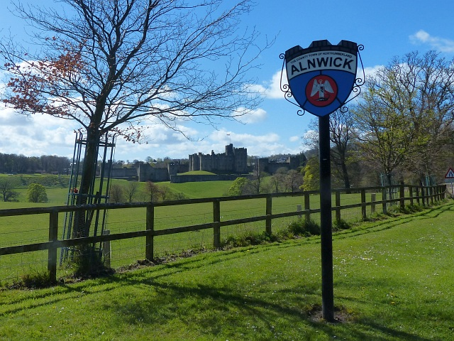 Town sign, Alnwick