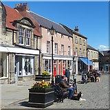 NU1813 : Market Place (north side), Alnwick by Robin Drayton