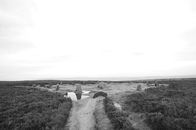 Twelve Apostles stone circle, Burley Moor