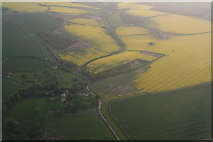 TF4571 : Claxby St. Andrew, looking up to Skendleby Psalter: aerial 2016 by Chris