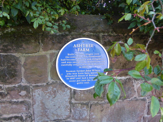 Ashtree Farm plaque