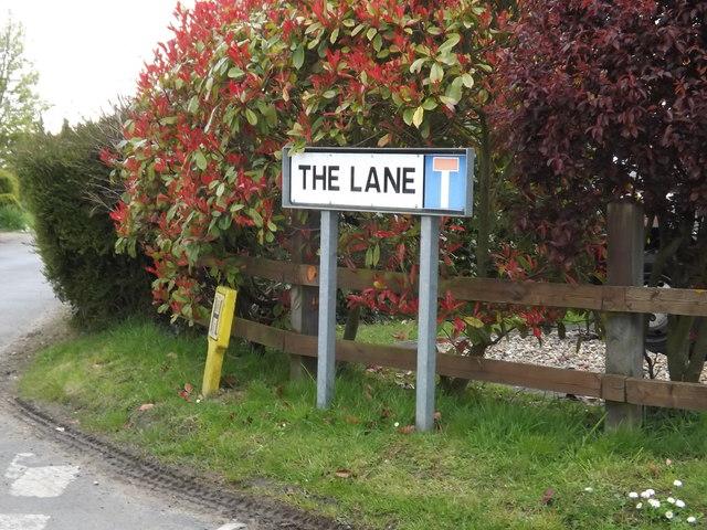 The Lane sign