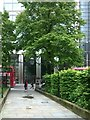 TQ3381 : Path through St Botolph Bishopsgate churchyard by Christopher Hilton