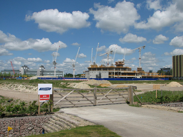 The new Papworth Hospital going up
