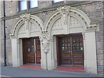NZ2364 : Westgate Hall Buildings - hall and school entrances in Corporation Street, NE4 by Mike Quinn
