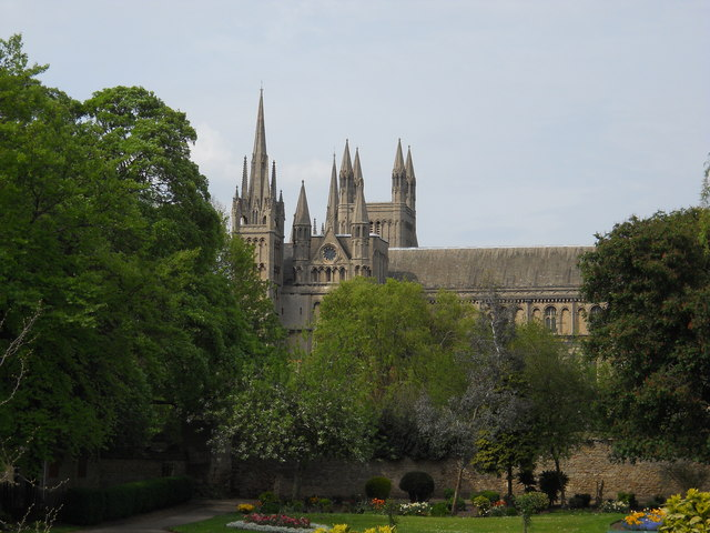 View of St. Peter's Cathedral, Peterborough, from Bishop's Road