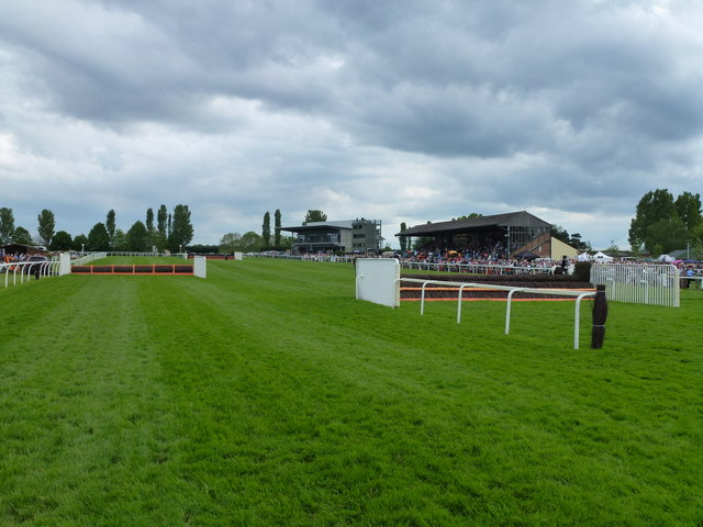 The finishing straight at Fakenham Racecourse