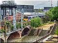 SJ8397 : DMU Crossing Salford Branch Viaduct by David Dixon