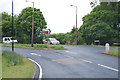 SE4705 : A635 junction with B6411 at Hickleton by Julian P Guffogg