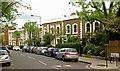 TQ2884 : Housing terrace, Willes Road, Kentish Town by Julian Osley