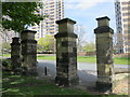NZ2364 : Gate piers, walls and piers to Westgate Hill Cemetery (2) by Mike Quinn