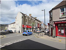 SS7597 : Crossroads of Ropewalk and Windsor Road, Neath by Jaggery