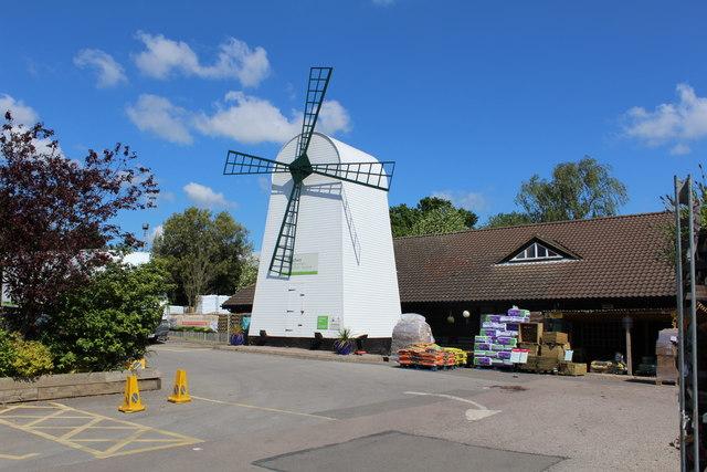 Windmill At Wyevale Garden Centre C Richard Hoare Geograph