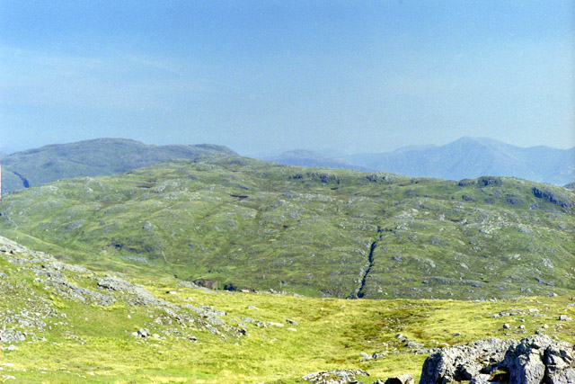 View north-east from summit of Beinn Bhreac