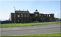 NS5566 : Scotway House - after the fire by Richard Sutcliffe