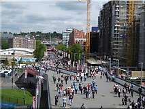TQ1985 : Olympic Way / Wembley Way by Richard Webb