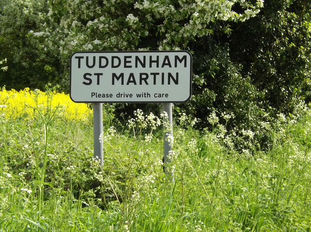 Tuddenham St.Martin Village Name sign