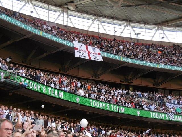 Top tier, Wembley Stadium