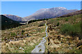NN1068 : West Highland Way in Felled Section of the Nevis Forest by Chris Heaton