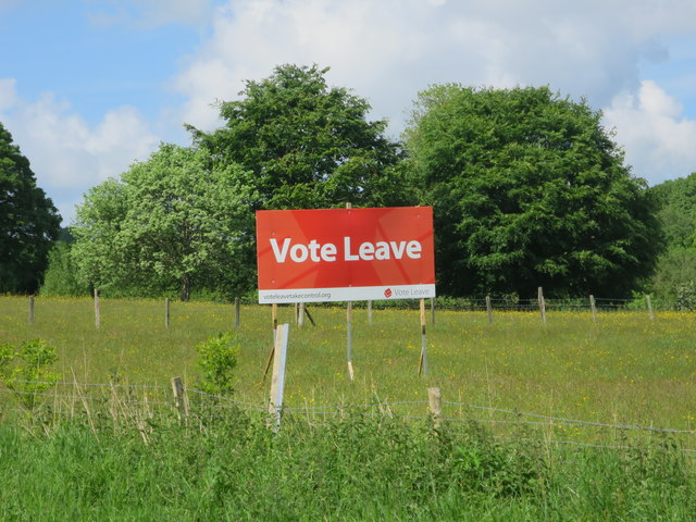 Vote Leave sign, Sedlescombe Street