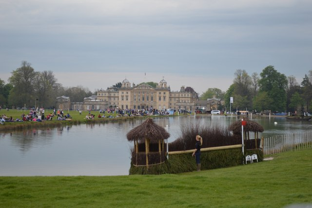 Badminton Horse Trials 2016: fence into the lake