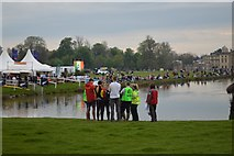 ST8083 : Badminton Horse Trials 2016: emergency services briefing at the lake by Jonathan Hutchins