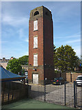 SD4364 : Fire (?) tower, Morecambe by Karl and Ali