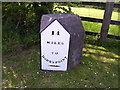SN1509 : Milestone A477, Pen Y Bont, Amroth Parish by welshbabe