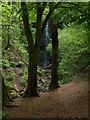 NS4760 : Approaching  Craigie Linn waterfall by Alec MacKinnon