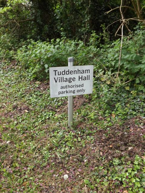 Tuddenham Village Hall sign