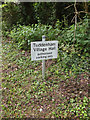 TM1848 : Tuddenham Village Hall sign by Adrian Cable