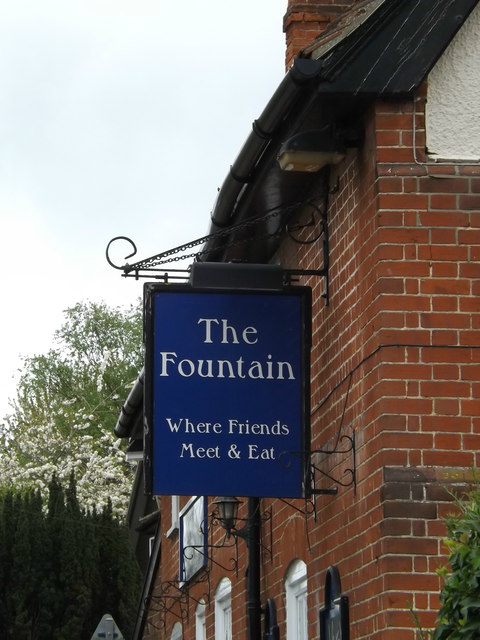 The Fountain Public House sign