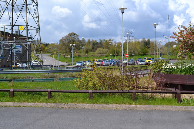 Car park and lighting, Alan Higgs Centre off Allard Way, Coventry