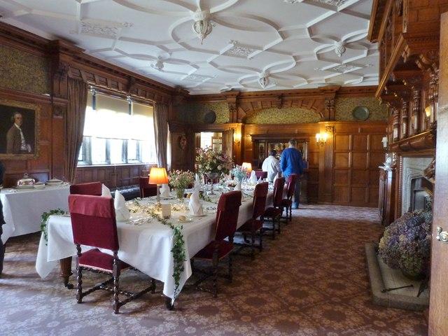 Elegant dining room at Lanhydrock House