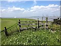TQ7479 : Stile on the footpath, near Cliffe Marshes by Chris Whippet